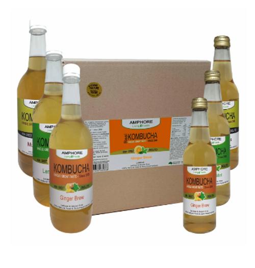 Amphore Kombucha Ginger Brew 1L x 9