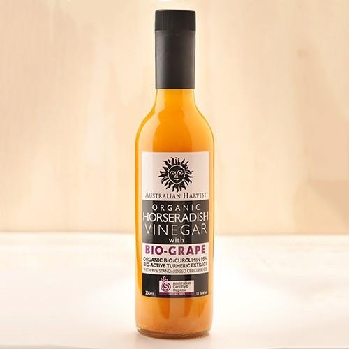 Australian Harvest Biogrape Organic Horseradish Vinegar 350ml x 12 Bottles
