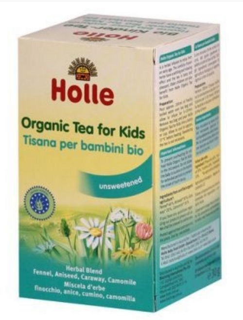 Holle Organic Baby Tea for Kids 30g (20 Bags) x 5 Boxes