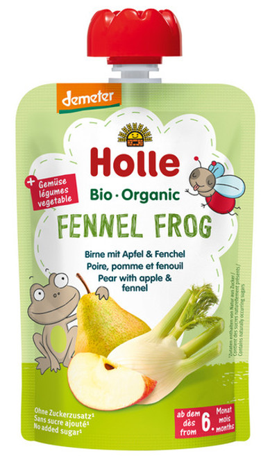 Holle Fennel Frog Pear with Apple & Fennel 100g x 12 Pouches