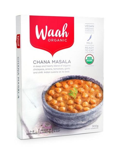 Waah Organic Chana Masala 300g x 6 Packets ( Back in Stock 21/12/2020)
