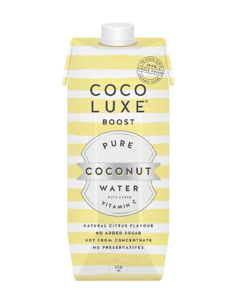 Coco Luxe Boost Coconut Water with Vitamin C 330ml  x 12 Bottles