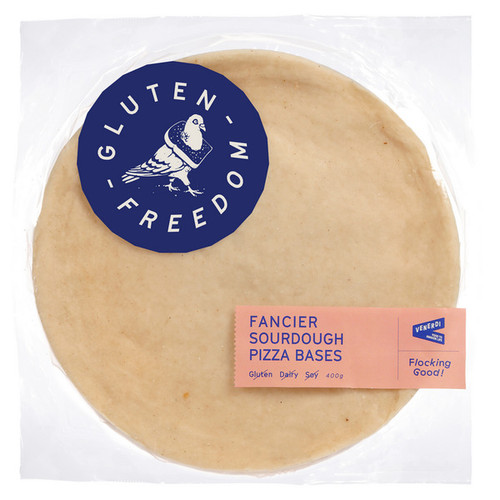 Gluten Freedom Fancier Sourdough Pizza Base 400g (2 Bases) x 4 Packets
