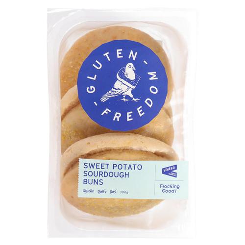 Gluten Freedom Sweet Potato Sourdough Buns 300g (3 Buns) x 4 Packets