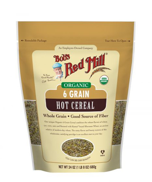 Bob's Red Mill Organic 6 Grain Right Stuff Hot Cereal 680g  x 4 Packets (Back in Stock 15/02/2021)
