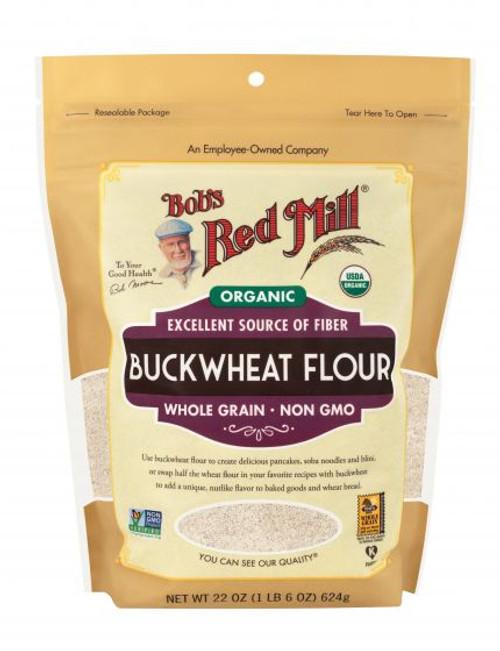 Bob's Red Mill Organic Buckwheat Flour 623g  x 4 Packets