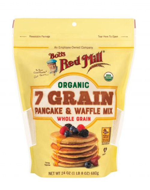 Bob's Red Mill Organic 7 Grain Pancake & Waffle Mix 680g  x 4 Packets
