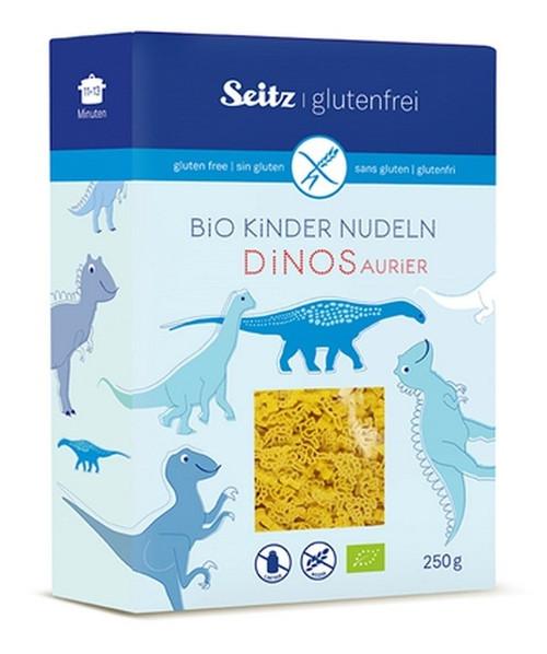 Alb-Gold Sietz Organic Kids Pasta Gluten Free Dinos 250g x 4 Packets
