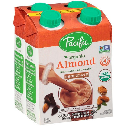 Pacific Foods Organic Almond-Chocolate Drink 240ml x 24 Boxes