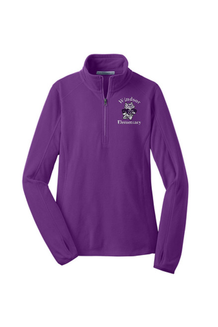 WPTO-L224 Ladies Microfleece 1/2-Zip Pullover