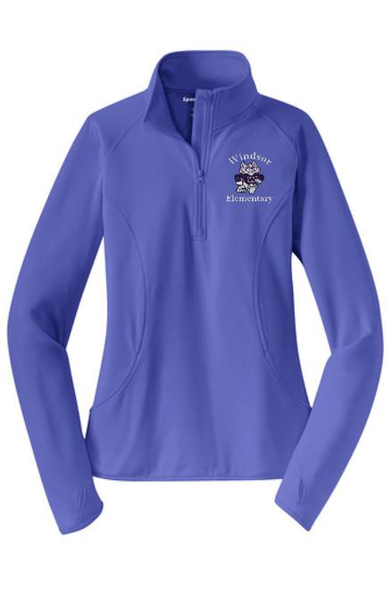 WPTO-LST850 Ladies Stretch 1/2-Zip Pullover