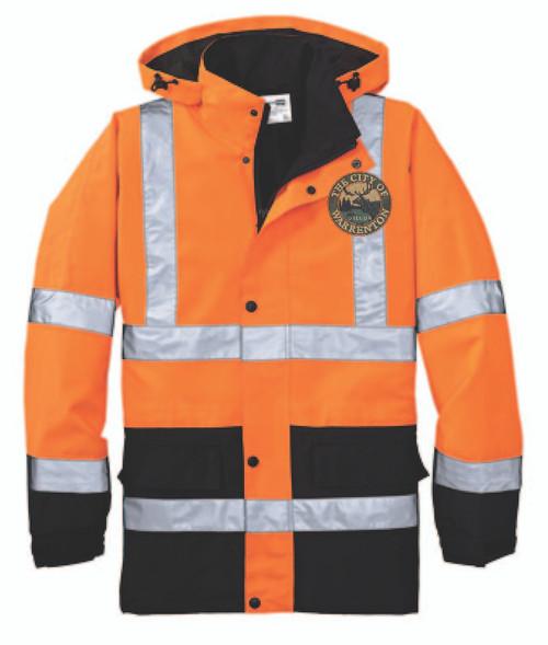 Safety Orange and  Black