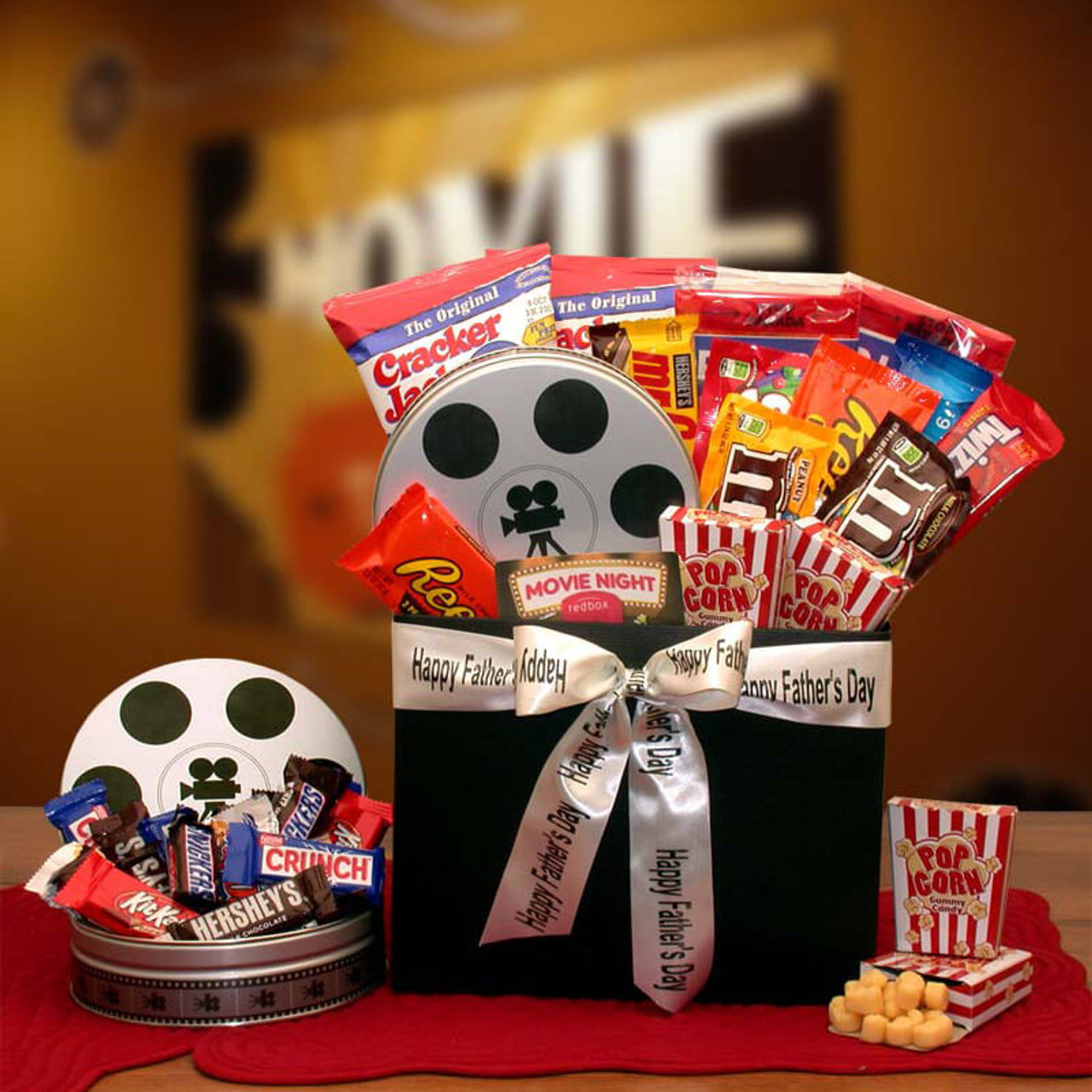 Fathers Day Movie Fest Gift Box w/ 10.00 Red Box Card