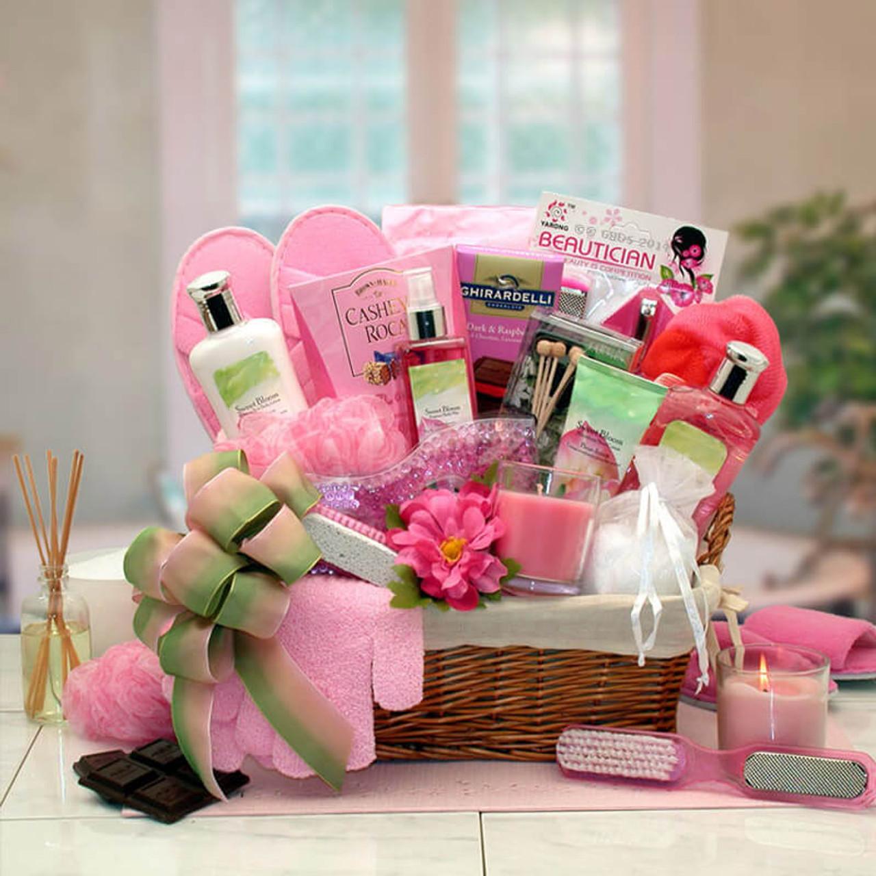 Sweet Summer Blooms Spa Gift Basket