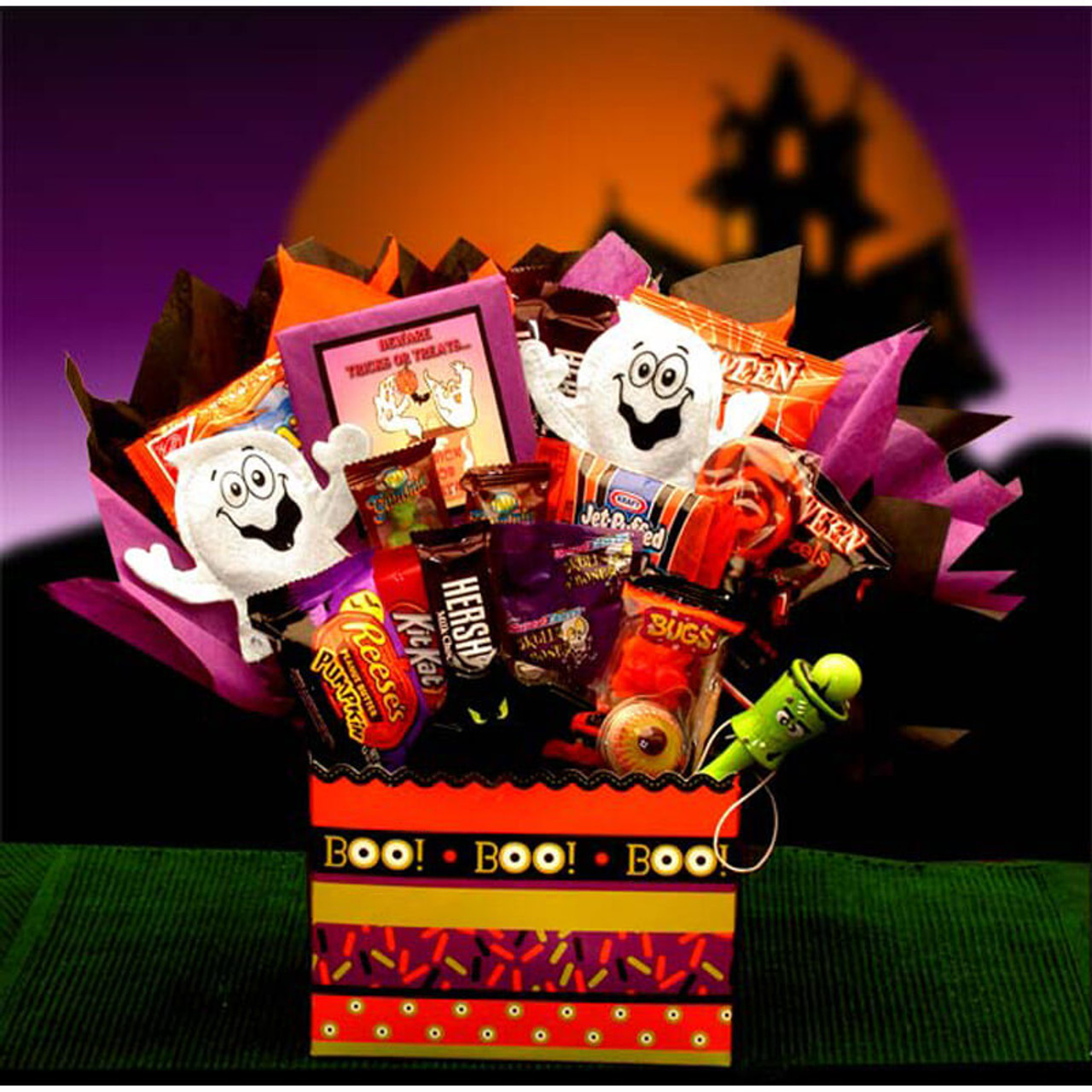 Halloween Gift Basket Ideas For Adults.Boo Mania Halloween Bouquet