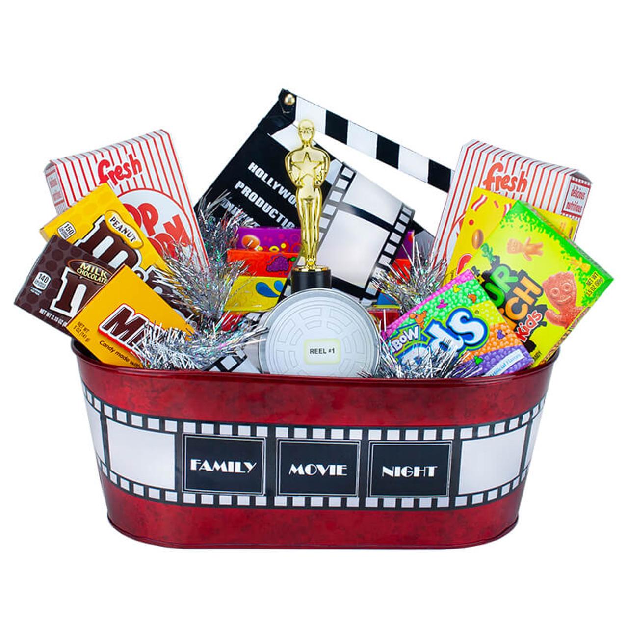 Family Movie Night Gift Basket