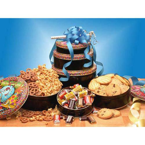 Birthday Treats Tower   Birthday Gift Baskets