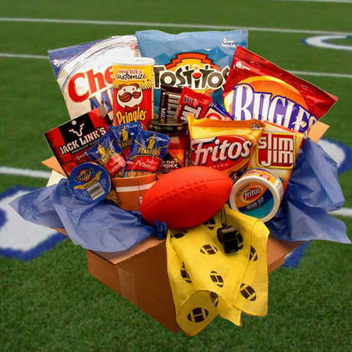 Touchdown Game Time Snacks Care Package   Football Gift Baskets