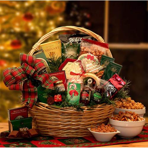 Holiday Celebrations Holiday Gift Basket   Christmas Gift Baskets