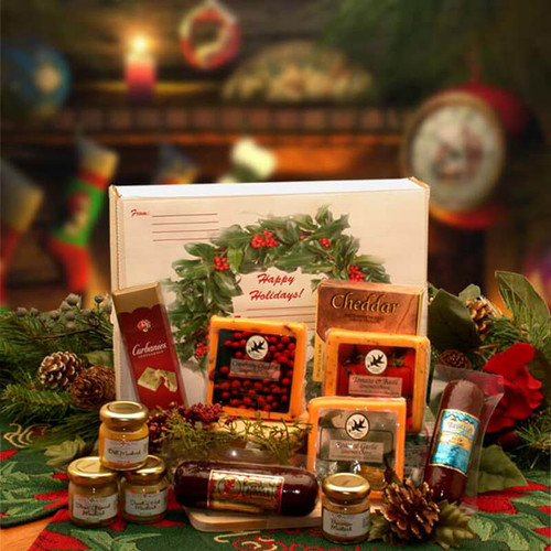 Happy Holidays Gourmet Sampler Pack | Christmas Gift Baskets