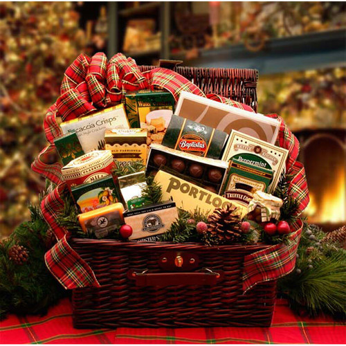 Home & Hearth Fireside Holiday Hamper | Christmas Gift Baskets