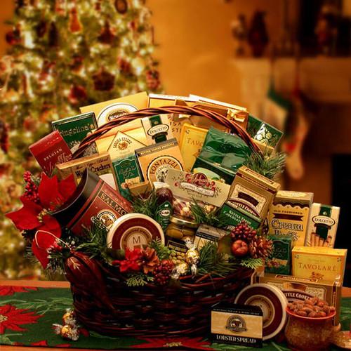 Grand Gatherings Holiday Gourmet Gift Basket | Christmas Gift Baskets
