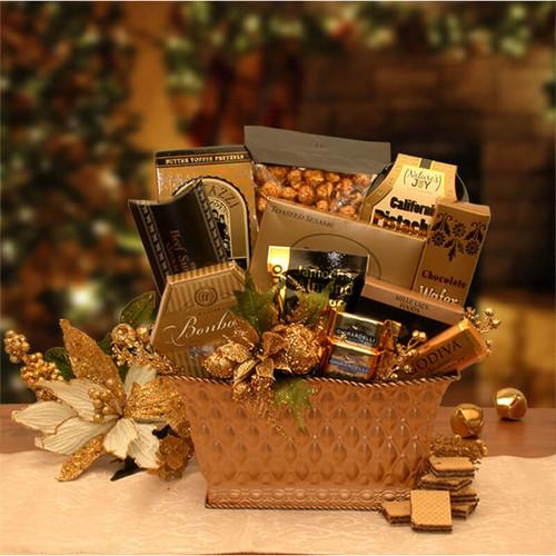 Golden Gatherings Holiday Gift Basket | Christmas Gift Baskets