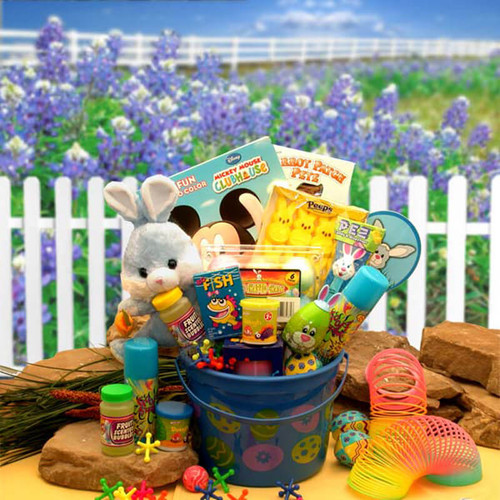 Little Bunny Blue Easter Fun Pail | Easter Gift Baskets