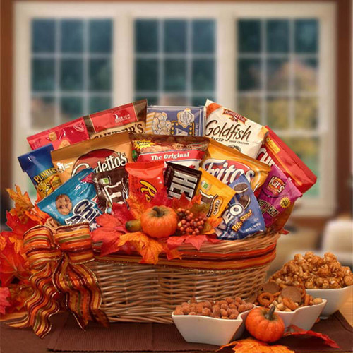 A Fall Snack Attack Gift Basket | Fall Gift Baskets