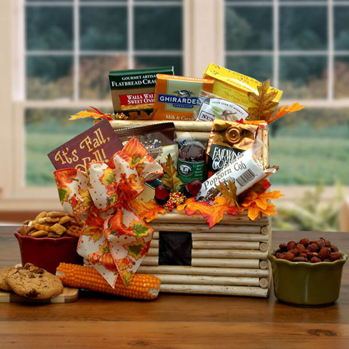 It's Fall Y'All Fall Log Cabin Gift | Fall Gift Baskets