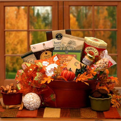 The Tastes of Fall Gourmet Gift Basket   Fall Gift Baskets