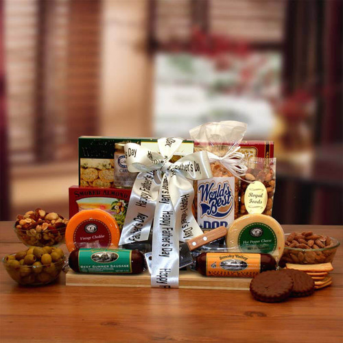 Fathers Day Ultimate Gourmet Nut & Sausage Board