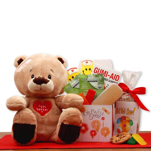 Get Well Soon Teddy Bear Gift Set