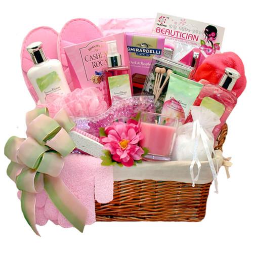 Sweet Summer Blooms Spa Gift Basket   Spa Gift Baskets
