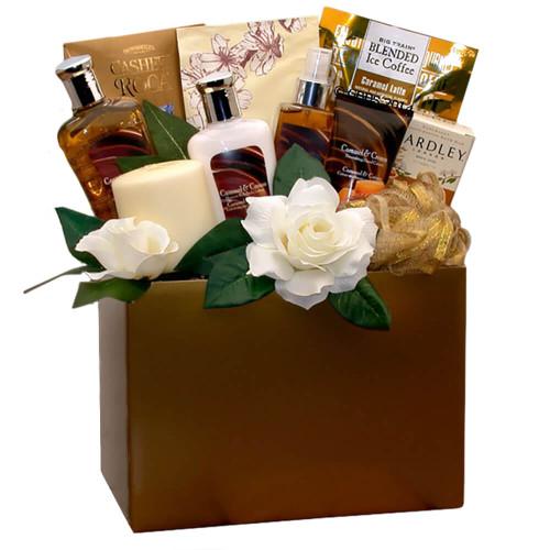 Sweet Inspirations Caramel Spa Gift Box | Spa Gift Baskets