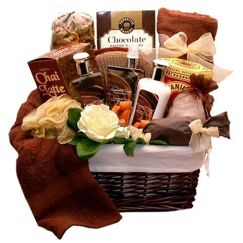Caramel Indulgence Spa Relaxation Hamper   Spa Gift Baskets