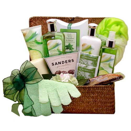 Serenity Spa Cucumber & Melon Gift Chest | Spa Gift Baskets