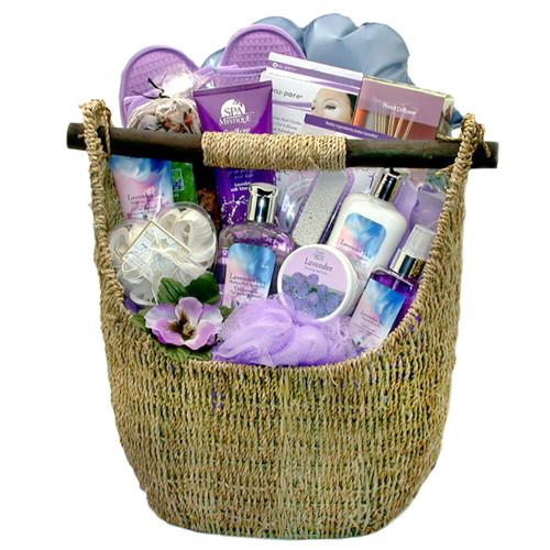 Lavender Sky Ultimate Bath & Body Tote | Spa Gift Baskets
