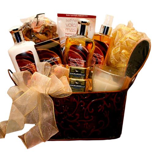 Sweet Sensations Caramel & Crème Spa Gift Basket
