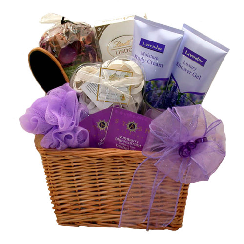 Relax With A Lavender Spa Gift Basket | Spa Gift Baskets