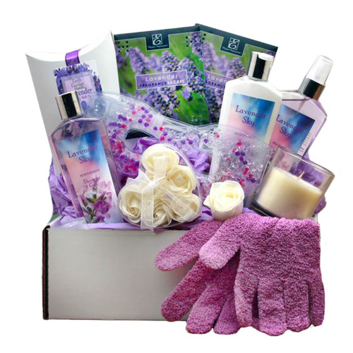 Soothing Essentials Lavender Sky Spa Gift Box   Spa Gift Baskets