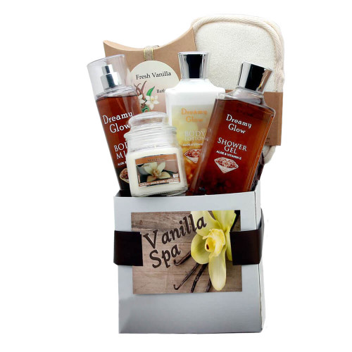 Delightfully Sweet Vanilla Spa Care Package   Spa Gift Baskets