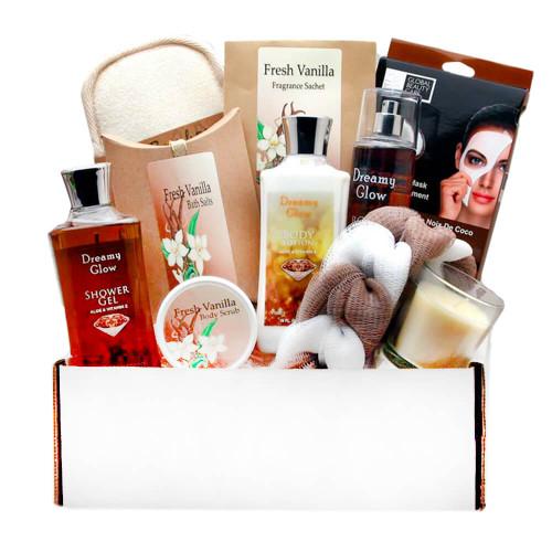 Delightfully Sweet Vanilla Spa Gift Box | Spa Gift Baskets