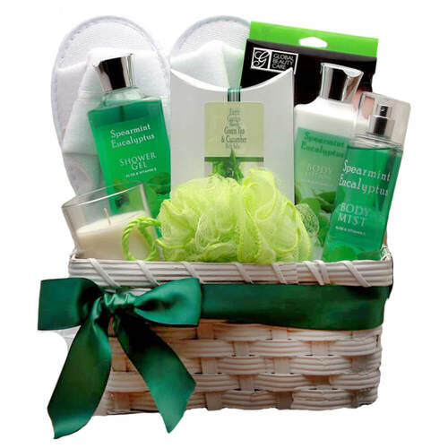 Rejuvenating Eucalyptus Spa Gift Basket | Spa Gift Baskets