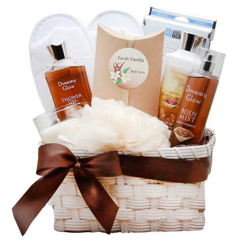 Delightfully Sweet Vanilla Spa Gift Basket | Spa Gift Baskets