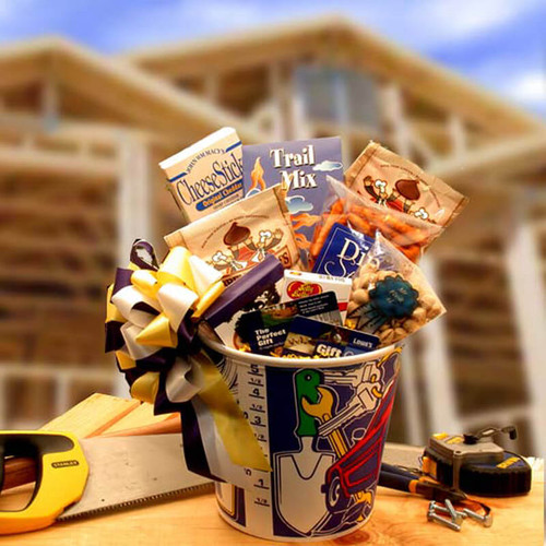 Men At Work Gift Basket w/ 25.00 lowes gift card | Gift Baskets For Men