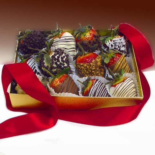 Decadent Chocolate Strawberries Gift Box