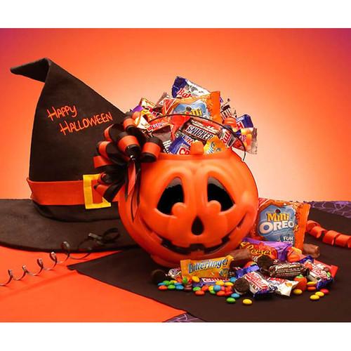 Tricks or Treats Halloween Goodies Pail   Halloween Gift Baskets