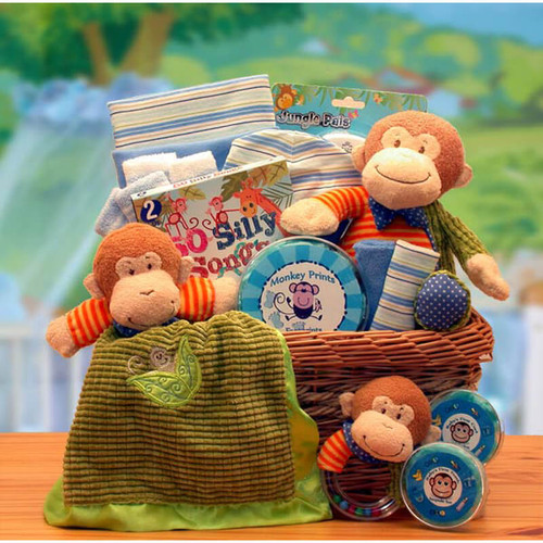 A New Little Monkey Baby Gift Basket | Baby Gift Baskets