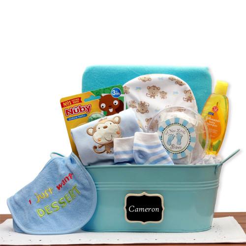 Baby Boy Basics Gift Pail | Baby Gift Baskets